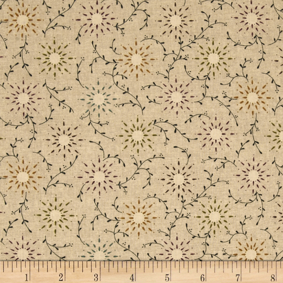 108'' Wide Quilt Backing Prairie Vine Tan Fabric