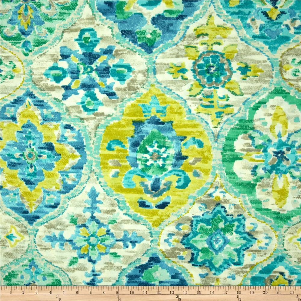 Discount outdoor fabric by the yard - Bryant Indoor Outdoor Tamara Large Paisley Quartz Discount