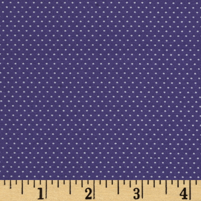 Pin Dot Majestic Purple Fabric