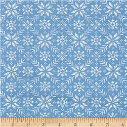 Moda Nordic Stitches Eight Leaf Rose Chill