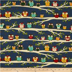 Owl Club Owls on a Limb Midnight