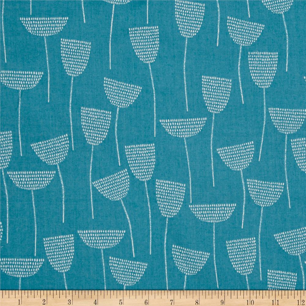 Cloud 9 Organic Double Gauze Threads Stitch Stem Teal