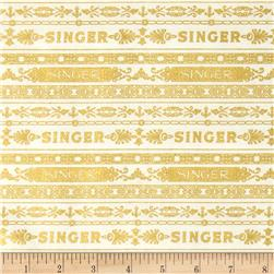 Sewing With Singer Metallic Stripe Ivory