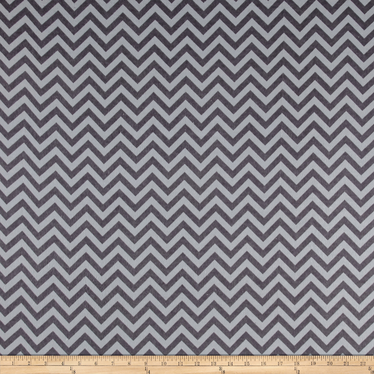 Flannel Chevron Stone/Iron Fabric