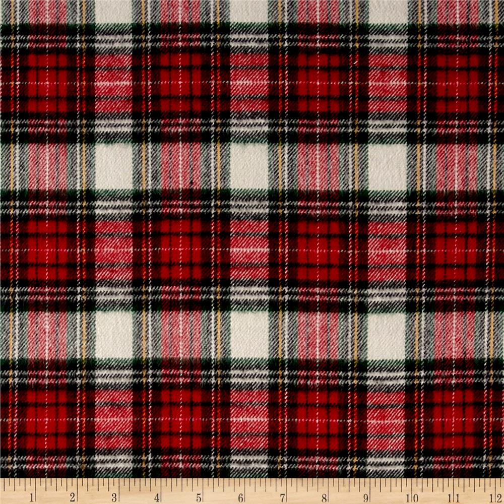 Primo Plaids Classics Flannel Tartan Black Fabric