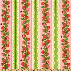 Strawberry Shortcake Garden Fun Flannel Border Stripes