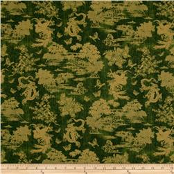 Birdsong Pearls of Wisdom Toile Jade