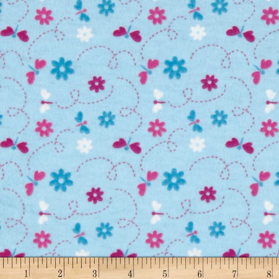 Flannel Dragonflies Blue