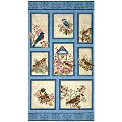 Benartex Birds of a Feather Panel Blue