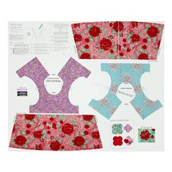 Riley Blake Ivy Mae Panel Pink