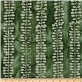 Indian Batiks Bean's Stripe Green/Natural