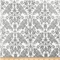 Riley Blake Hollywood Sparkle Medium Damask Grey