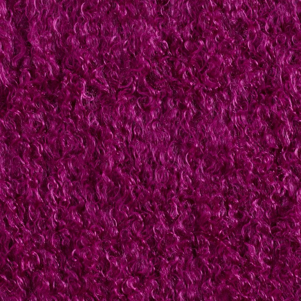 Faux Fur Mongolian Curly Wild Berry
