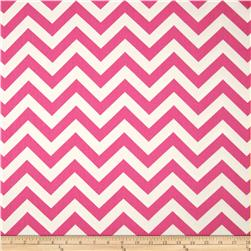 Premier Prints Zig Zag Twill Candy Pink Fabric