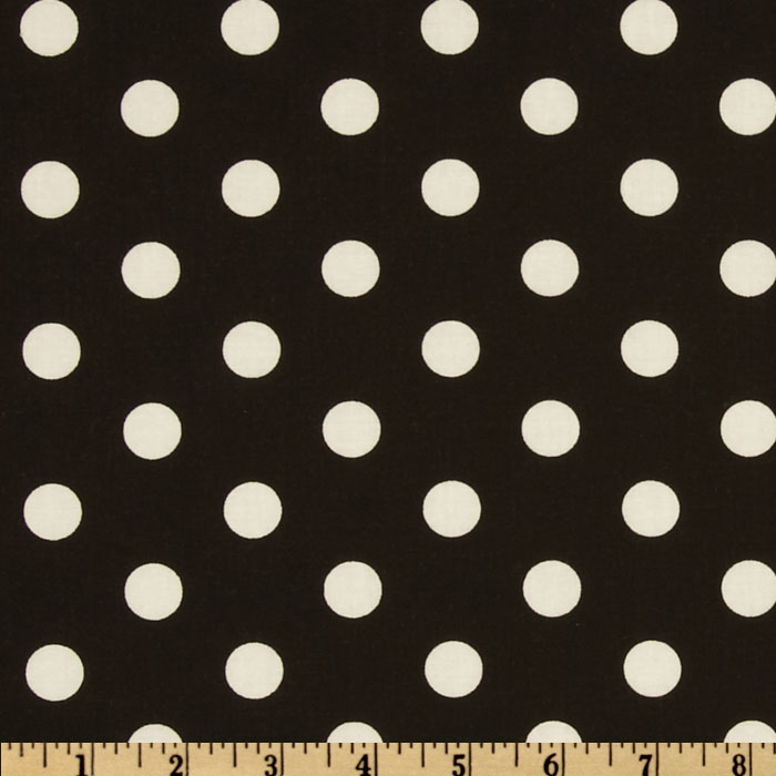 Polka Dots Black/White Fabric