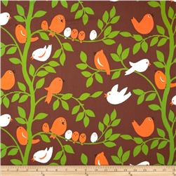 Michael Miller Tweetie Pie Brown Fabric