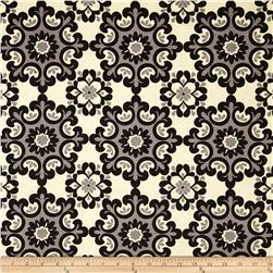 Riley Blake Home Décor Ornate Damask Black Fabric