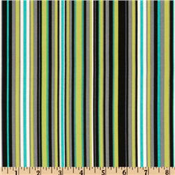 Michael Miller Lagoon Play Stripe Lagoon Fabric