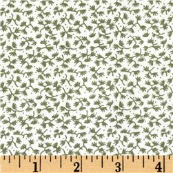 Dots and More Mini Ferns White/Olive