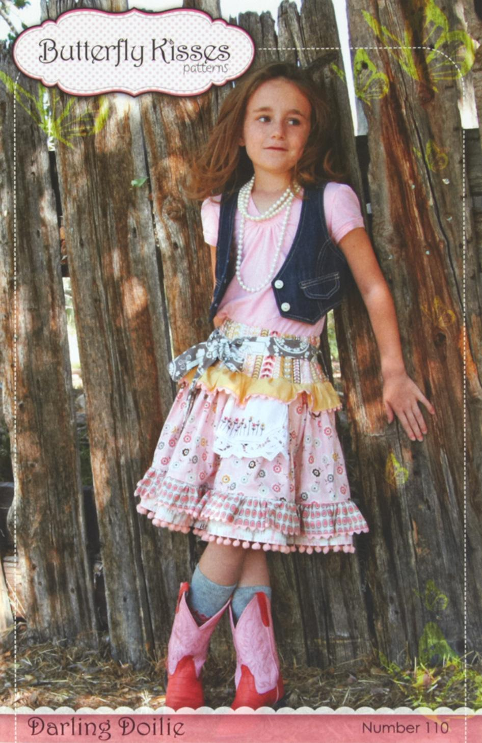 Butterfly Kisses Darling Doilie Girls Skirt Pattern