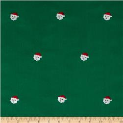 Embroidered 21 Wale Corduroy Santa Green