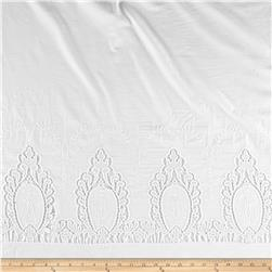 Cotton Eyelet Double Border Fancy White