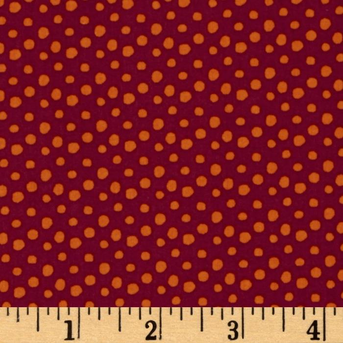 Festive Forest Dots Burgundy