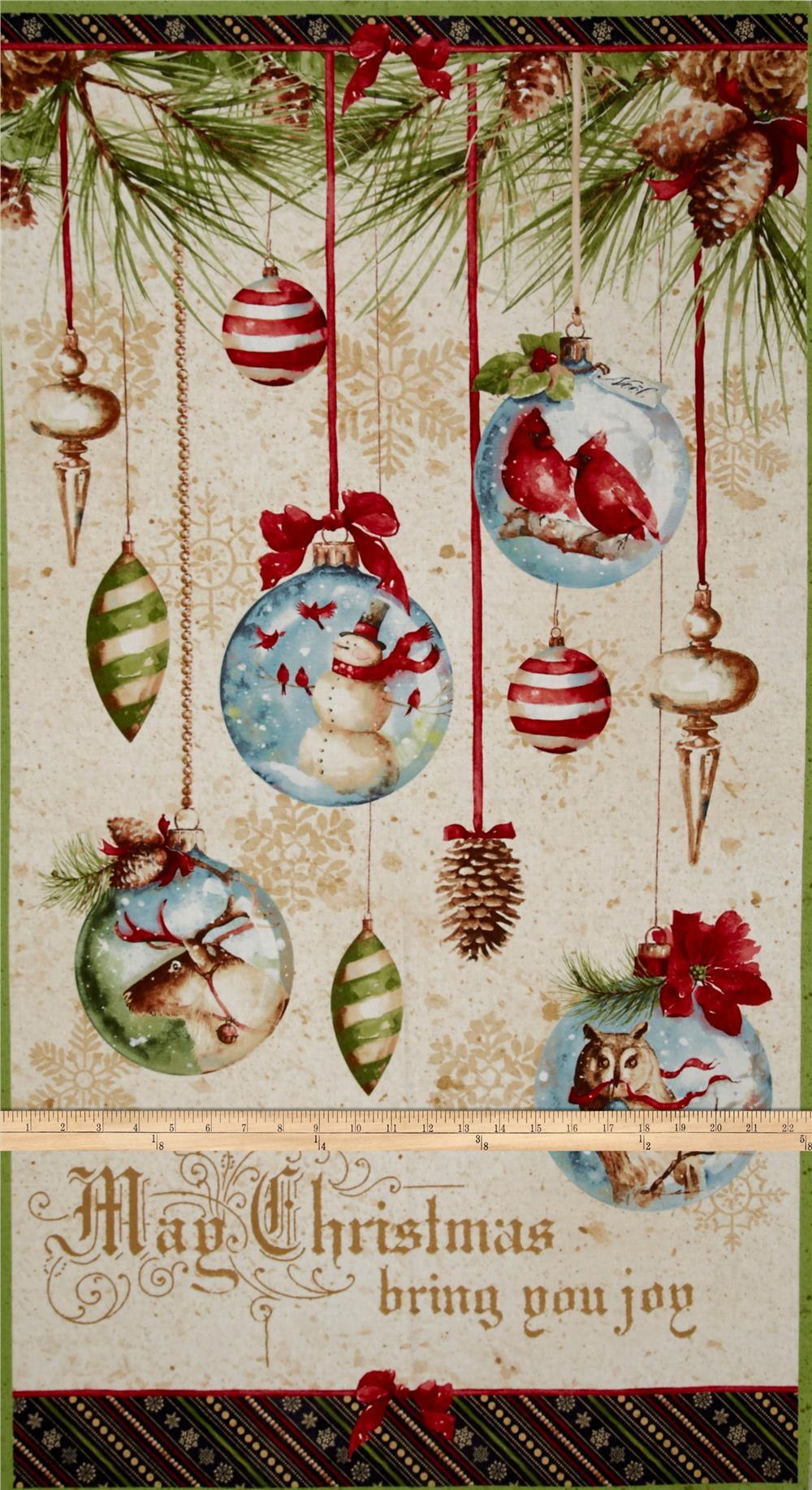 "Woodland Holiday Large 24"" Panel Multi"
