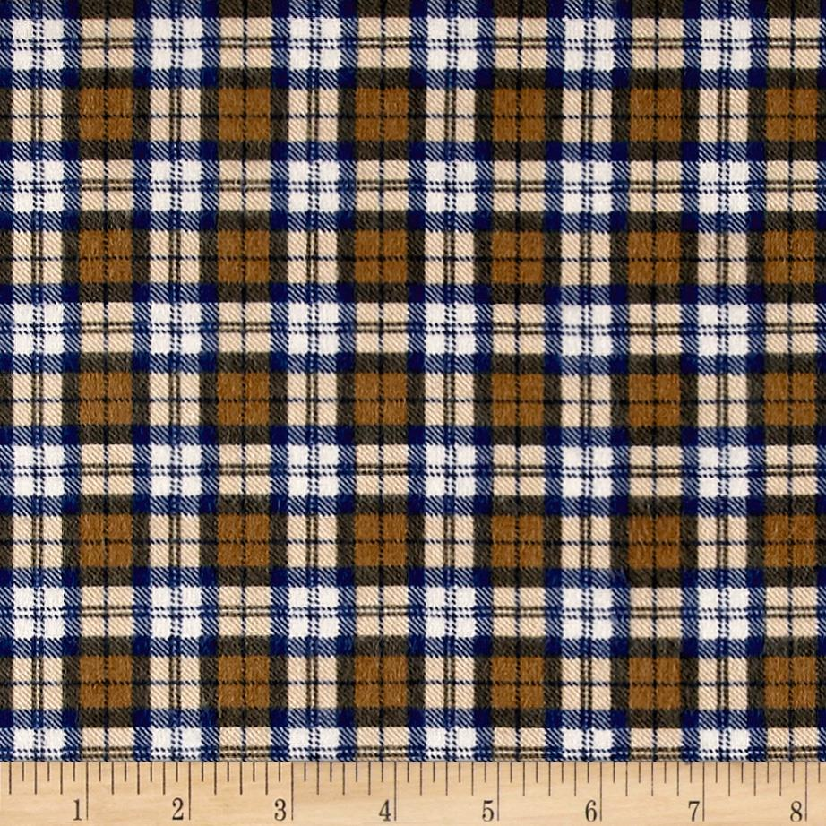 Mad for Plaid Flannel Square Plaid Camel Fabric