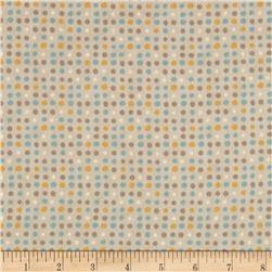 Moda Corner of 5th & Fun  Dots Flannel Bunny Brown