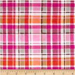 Mad For Plaid Flannel Pink/Orange Fabric