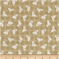 Lewis & Irene A Walk In The Glen Dog Toss Beige