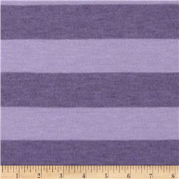 Yarn-Dyed Jersey Knit Heather Stripe Purple