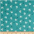 Papillon Birds Teal