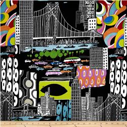 Nicole's Prints Urban Sprawl Black