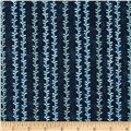Oasis Vine Stripe Dark Blue