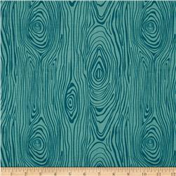 Riley Blake Knock on Wood Wood Teal