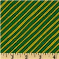 Goodnight Moon Diagonal Stripe Green/Yellow