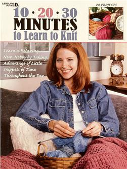 "Leisure Arts ""10-20-30 Minutes to Learn to Knit"" Book"