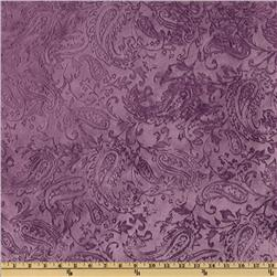 Shannon Minky Paisley Cuddle Embossed Violet
