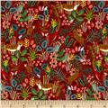 Cotton + Steel Rifle Paper Co. Menagerie Jungle Red