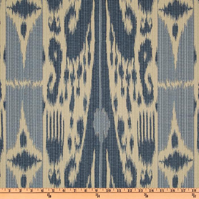 Covington Katana Woven Jacquard Denim Blue
