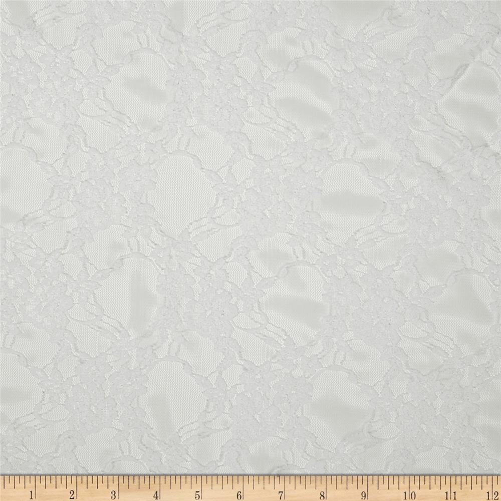 Stretch Floral Lace Snow