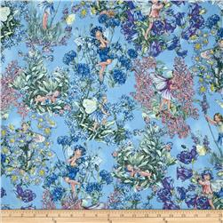 Michael Miller Flower Fairies Hidden Fairies Periwinkle Fabric