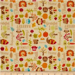 Riley Blake Happy Harvest Flannel Main Cream Fabric