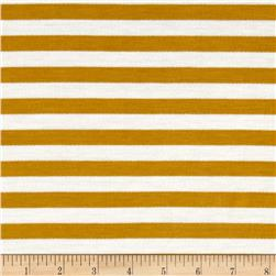 French Terry Knit Stripe Mustard/Ivory