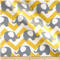 RCA Ella Chevron Sheers Grey/Lemon