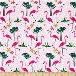 Timeless Treasures Flamingos Pink