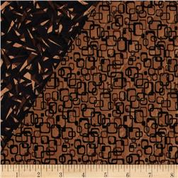 Graphix 3 Quilted Link Squares Brown
