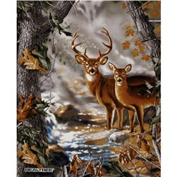 Realtree Buck & Doe Panel Multi Fabric